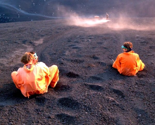 Volcano sledding. Yes, really.